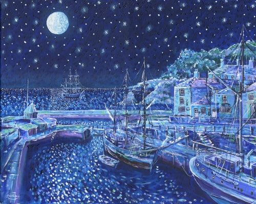 We Saw Three Ships, Charlestown print by Paul Clark