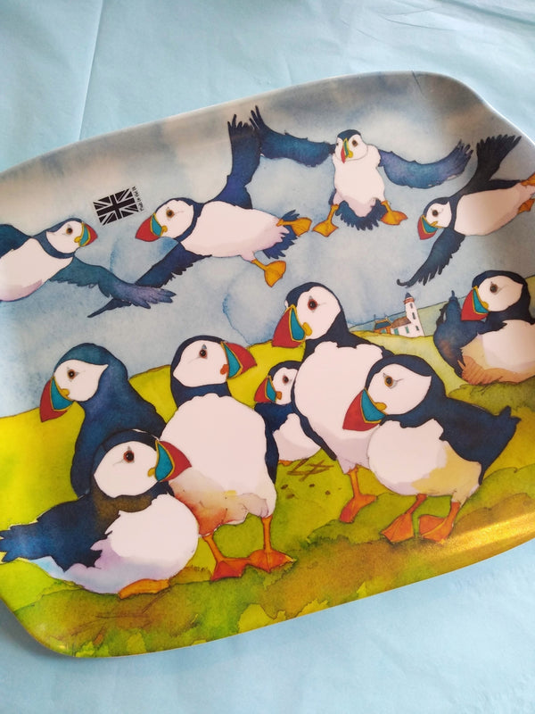 Emma Ball Playful Puffins medium Tray