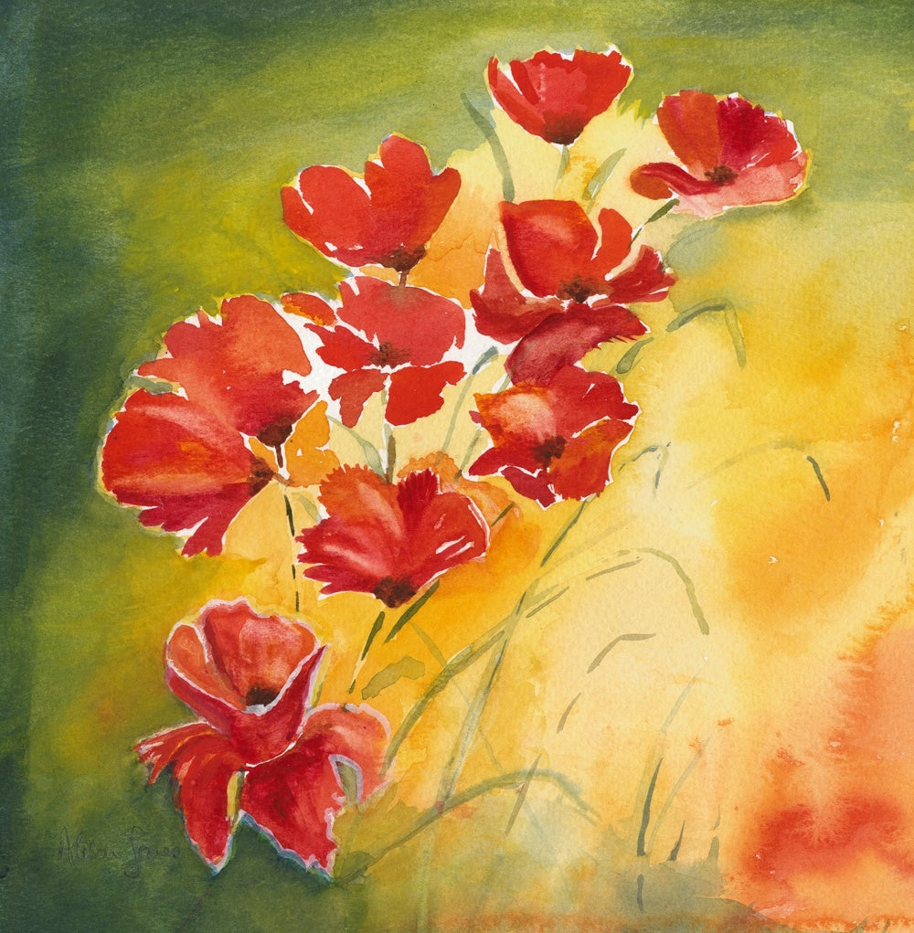 Alison Jones Poppies Print