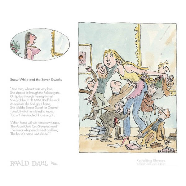"Roald Dahls Revolting Rhymes ""Snow White And The Seven Dwarfs"" print"