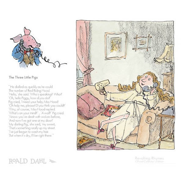 "Roald Dahls Revolting Rhymes ""The Three Little Pigs"" print"