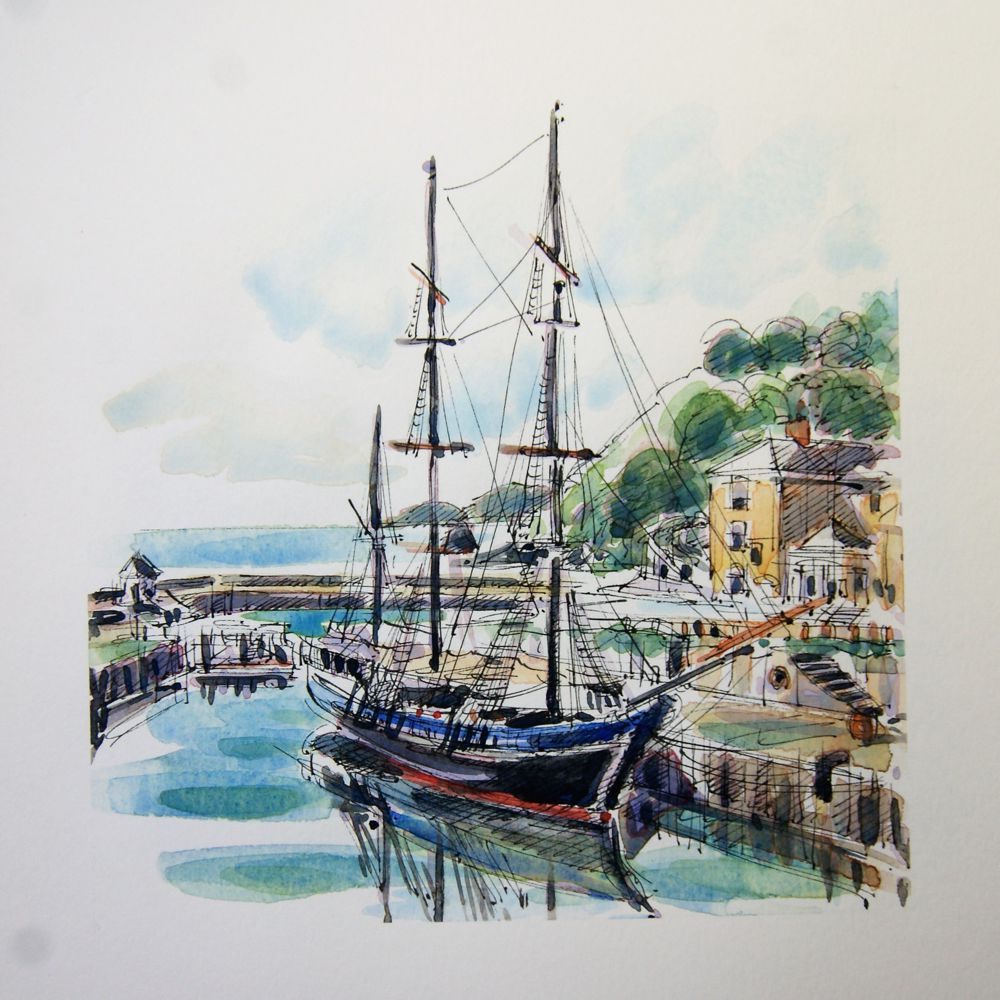 Richard-Briggs-Charlestown-Harbour-Print
