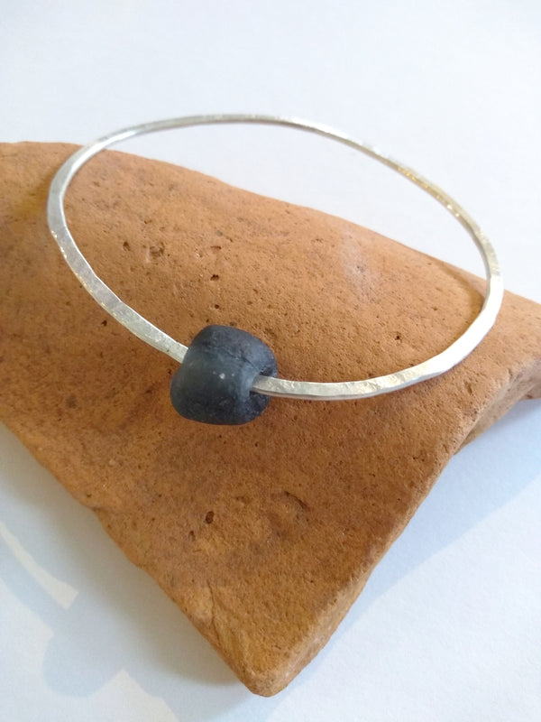 Sarah Drew Eco-Silver Bottle Bead Bangle