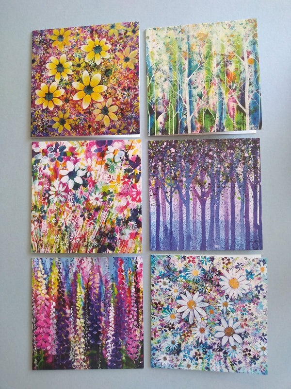 Floral Art pack of note cards by Theresa Shaw