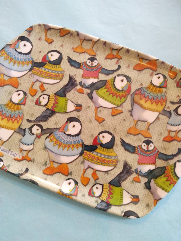 Woolly Puffins Scatter Dish