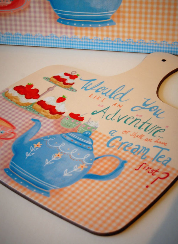Cream Tea Adventure chopping board