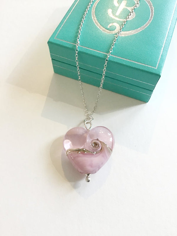 Pale Pink Large Heart pendant