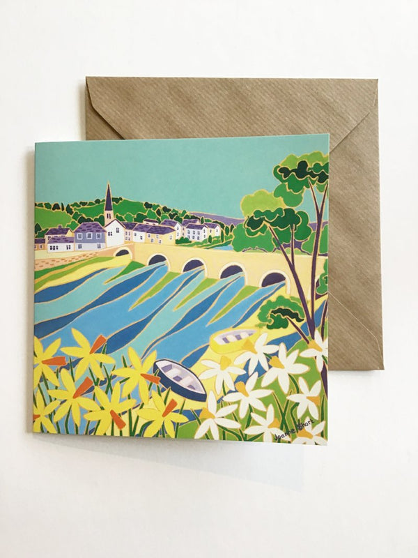 Spring Colours, Lostwithiel, Card by Joanne Short