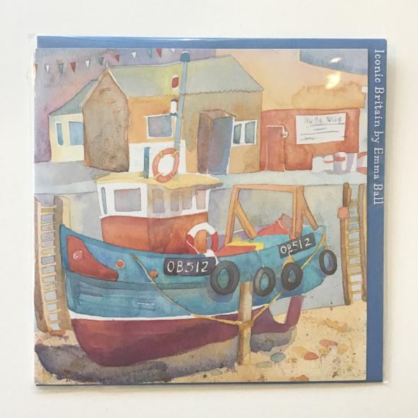 Boat @ Mallaig card by Emma Ball