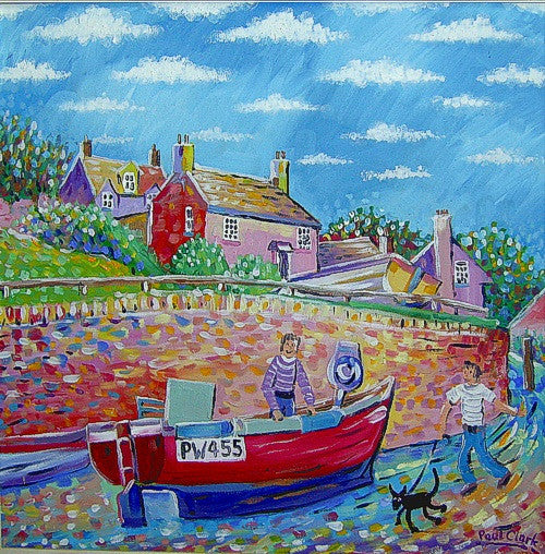 Port-Gaverne-Cornwall-painting-by-Paul-Clark