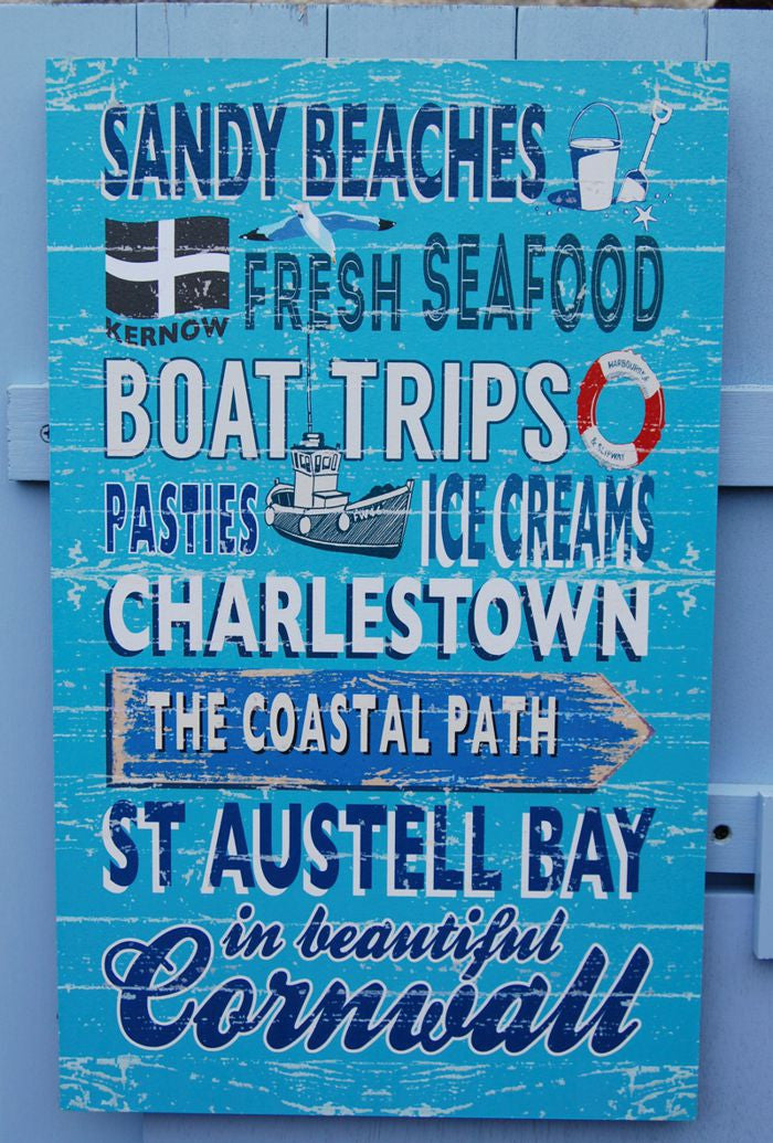 Sandy Beaches Charlestown sign