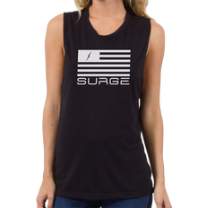 Classic Flag Women's Muscle Tank - Black