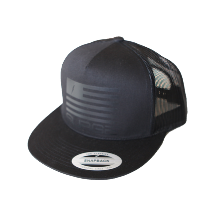 Classic Flag Trucker Black Black Reflector