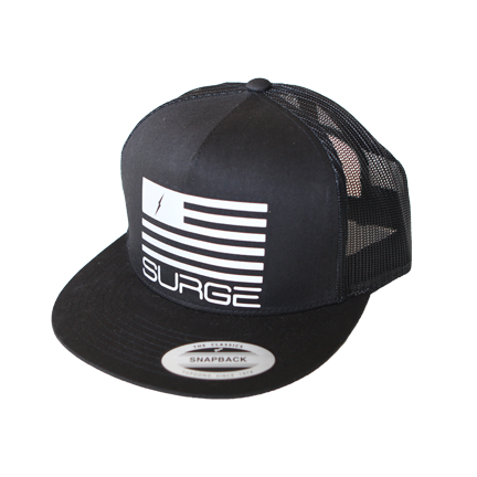 Classic Flag Trucker Black Silver Reflector