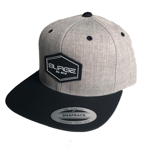 Diamond Snapback - Grey with Black Visor
