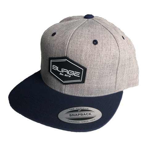Diamond Snapback - Grey with Blue Visor