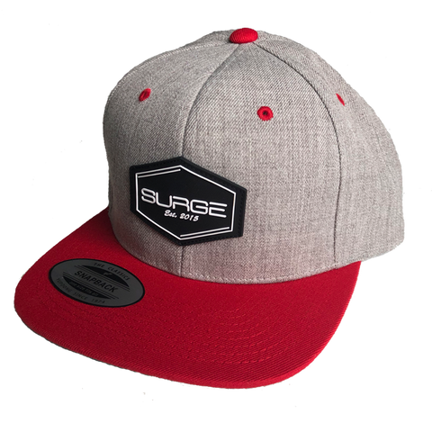 Diamond Snapback - Grey with Red Visor