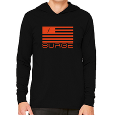 Classic Flag - Long Sleeve Unisex Hoodie - Black/Fire Orange