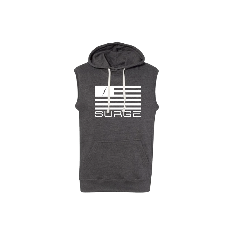 Sleeveless Hoodie - Classic Flag - Mens Dark Grey