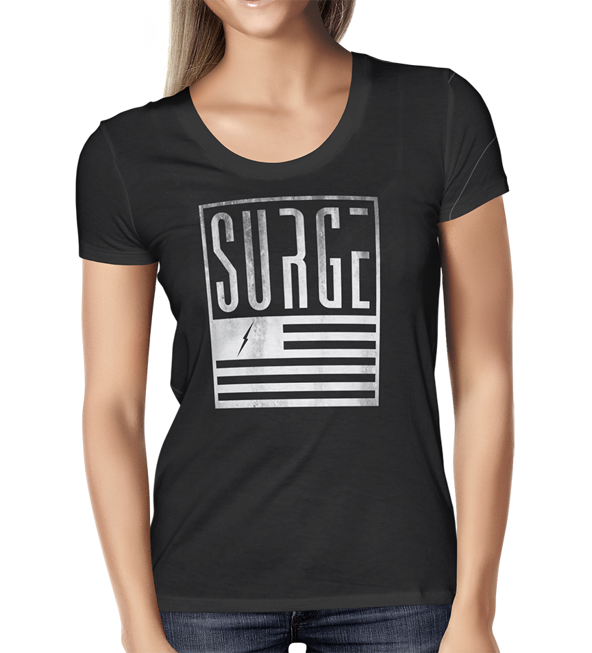 Stamp Womens Black tee