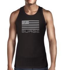 Classic Flag Men's Tank- Black/Grey