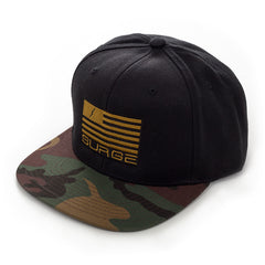 Classic Flag Snapback - Black with Camo Visor