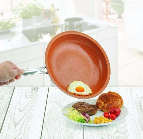 Cake Stencil's Store Frying Pan 10 Inch 2.5mm thick Non-stick Copper Frying Pan