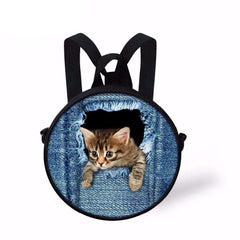 candiesshop Great for Gifts 3D Cat Backpack