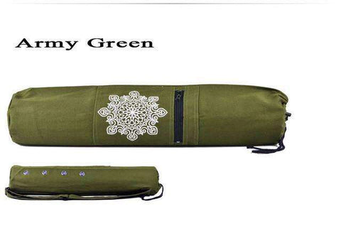 candiesshop Sports Army Green Breathe Yoga Mat Bag