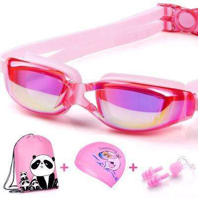 candiesshop Sports Colorful Pink Swimming Accessories Set