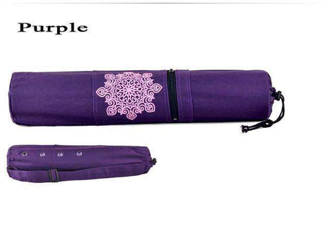 candiesshop Sports Purple Breathe Yoga Mat Bag