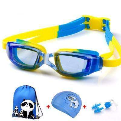 candiesshop Sports Transparent Blue Swimming Accessories Set