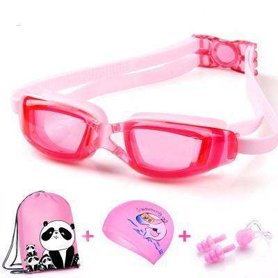 candiesshop Sports Transparent Pink Swimming Accessories Set