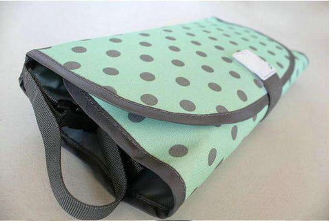 Dropshipping Store Nappy Changing Pad Blue Green Bubbly 3-In-1 Changing Pad/Mat