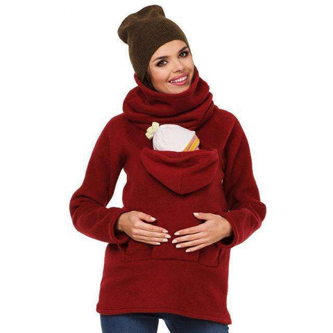 sellingpanda Baby wearing Red / XXL Baby Piggybacking Hoodie