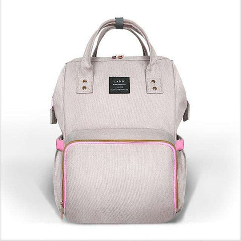 sellingpanda Diaper Bag Pink and grey Best Nappy Bag
