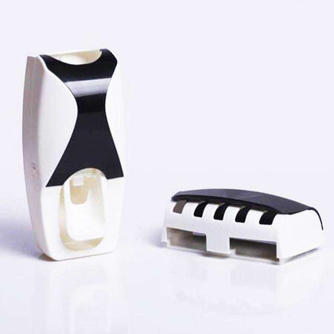 sellingpanda For Home Black Automatic Toothpaste Dispenser Set