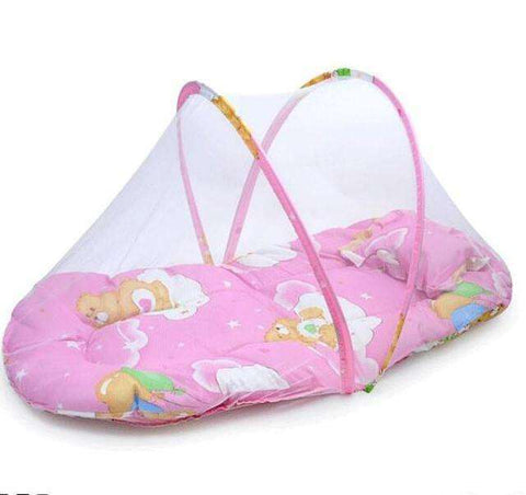 sellingpanda Great for Gifts Length 75cm Portable baby bed with mosquito net