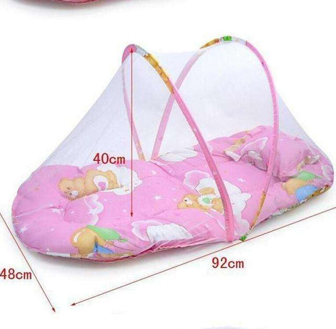 sellingpanda Great for Gifts Length 92cm Portable baby bed with mosquito net