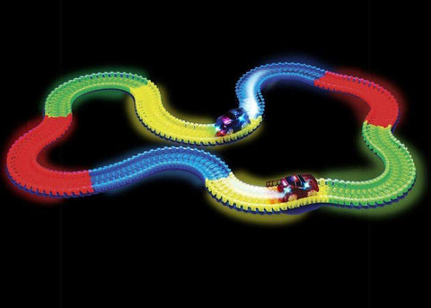 sellingpanda Toys 60 pcs track with 1 car Magic Glow Race Tracks