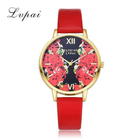 sellingpanda Watches Red Rhosie Watches