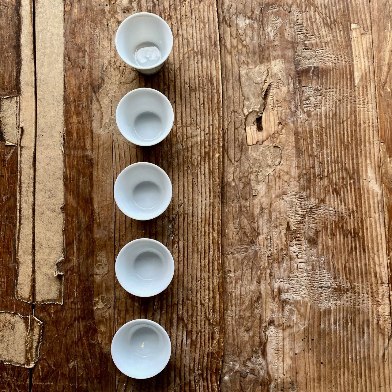 JAPANESE TASTING CUPS, White, 20ml - O-FIVE RARE TEA BAR