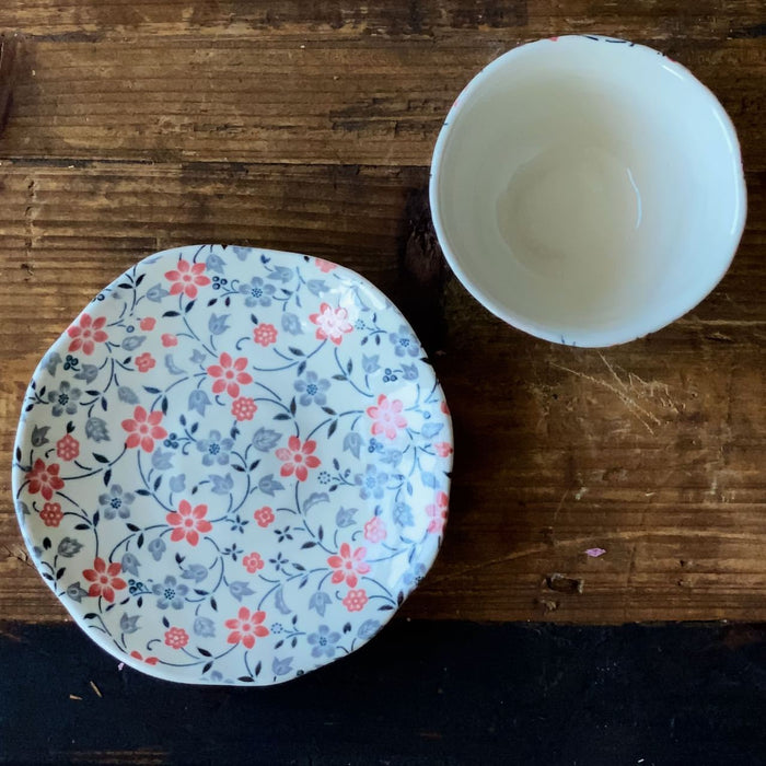 MINOYAKI | Blossom Cup and Saucer - O-FIVE RARE TEA BAR