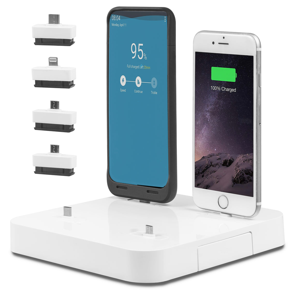 Kiwi K4 - Phone Docking USB Charging Station: Desktop Organizer Charger Stand - Charges Multiple Devices Including Apple iPhone & iPad or Android Phones & Tablets - 6 Dock Station with Multi Port USB Power Hub