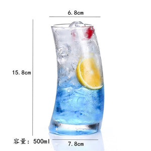 Funny Glass Cup Sailboat Clear Transparent Wine Cup Drinking Glasses Cute Cocktail Glass forWedding Juice Beer Whiskey Champagne