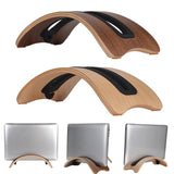 Samdi Wooden Vertical Desktop Laptop Stand Holder Bracket Dock for Macbook Air