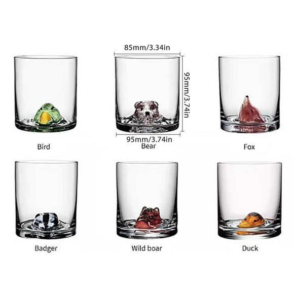 400ml Creative Animal Glass Cup Lead-Free Ultra-Clarity Glass Wine Glass Beer Glass for Beer Water Wine Whiskey Tea Gifts