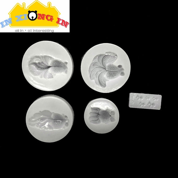 DIY Mini Goldfish Mold Transparent Silicone Mold for Resin Craft 3D Small Fish Decoration Making Tool Epoxy Resin Molds