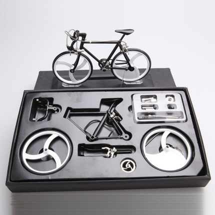 23CM DIY Assemble Alloy Model Simulation Bike Accessories Mini Simulation Bike Mountain Bike Toy Gift Bike Model