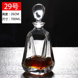 Thickened whiskey, foreign wine bottles, wine decanters, wine decanters with lids, wine storage devices, glass sealed empty cans